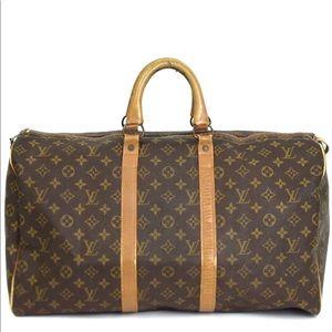Auth Louis Vuitton Keepall 50 Travel Bag